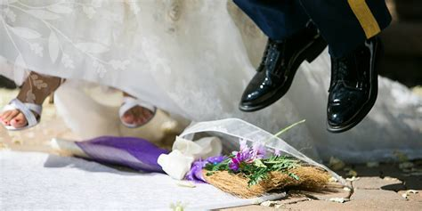 Wedding Ceremony Jumping The Broom by Wedding Folklore Brenwood Forge Brooms
