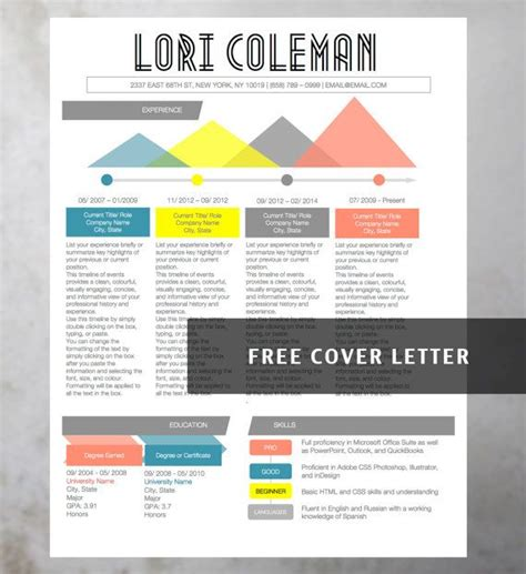 Colorful Resume Templates Free by Infographic Creative Colorful Resume Collection 4 Resume