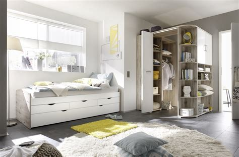 schlafzimmer einzelbett ausziehbett eckkleiderschrank bett 90cm einzelbett