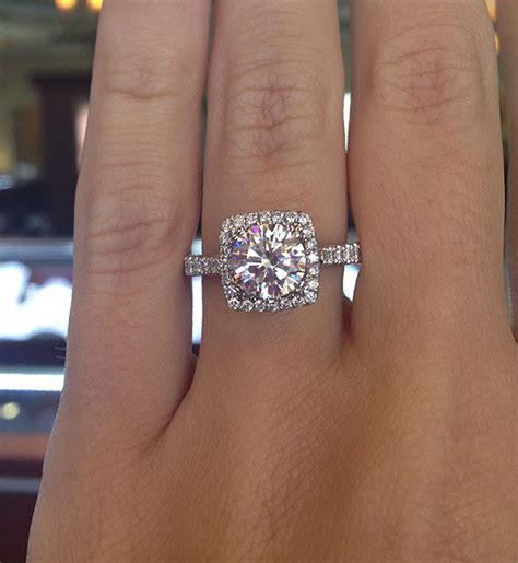 square halo engagement rings eye