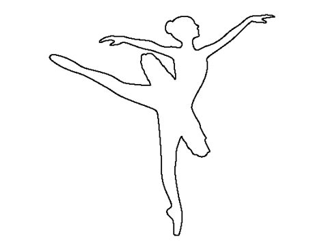 Dancer Outline by Ballerina Pattern Use The Printable Outline For Crafts Creating Stencils Scrapbooking And