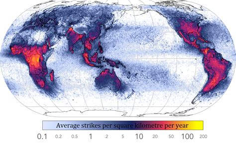 Lightning Map What Causes Lightning Universe Today
