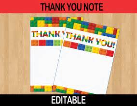 building blocks editable thank you cards instant cupcakemakeover