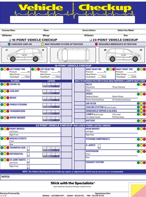 search results for printable vehicle inspection sheets