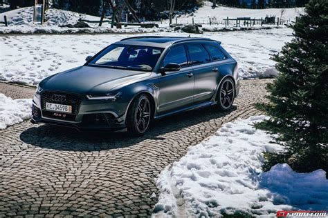 audi wagon black 2015 abt audi rs6 r wagon cars black matt modified