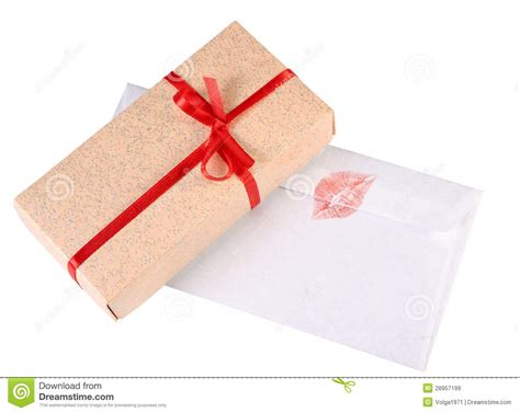 Letter Gift Box Gift Box And Letter Royalty Free Stock Images Image 28957199