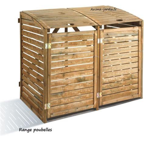serre polycarbonate 2272 cache poubelle en bois rangement poubelle