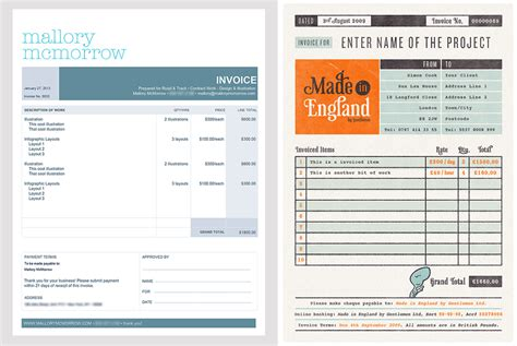 invoice template design how to design a killer invoice that reflects your style