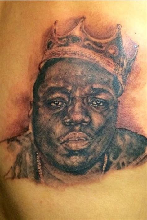 biggie smalls tattoos biggie smalls portrait by luka pagan tattoonow