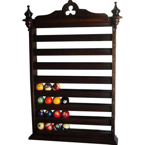 Billiard Wall Rack by Antique Billiard Pool Rack From Rubylane