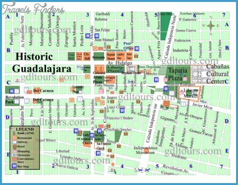 guadalajara map guadalajara map tourist attractions travelsfinders