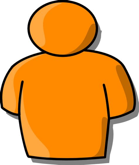 clipart persone orange person clip at clker vector clip