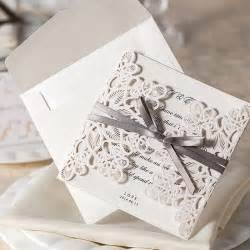 design 10pcs set floral bow wedding invitations blank printable laser cut wedding invitations