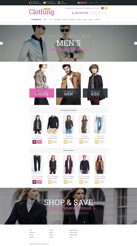 clothes store oscommerce template 52732