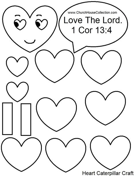 valentines templates for pages heart caterpillar valentine s day craft for sunday school