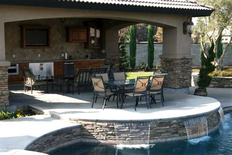 Kitchen Eating Area Ideas by Outdoor Living Paradise Pools And Spas Bakersfield