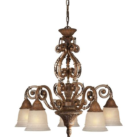 Rustic Candle Chandelier Shop Shandy 26 In 5 Light Rustic Tinted Glass Candle Chandelier At Lowes