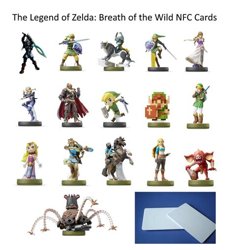 printable zelda amiibo cards 17pcs zelda link breath of the wild amiibo nfc tag cards