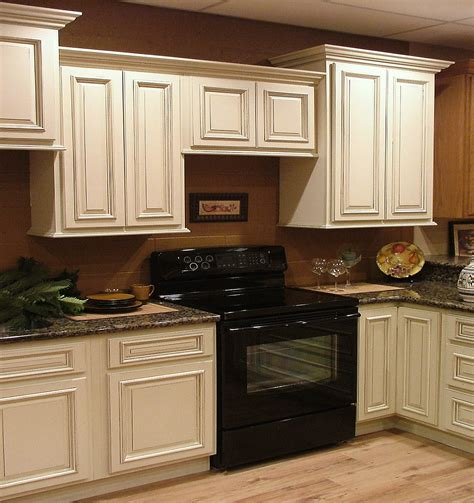 wonderful wooden antique white cabinets as kitchen