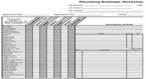 plumbing estimate construction worksheet the book modern
