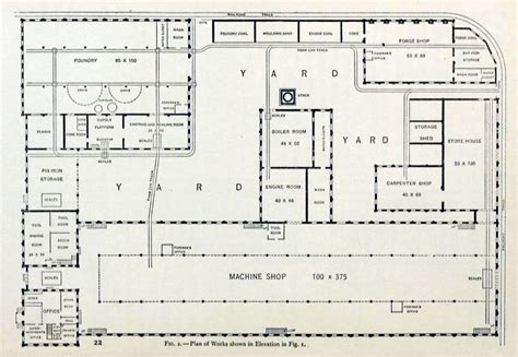 machine shop floor plans file machine shop plan of works shown in elevation 1906