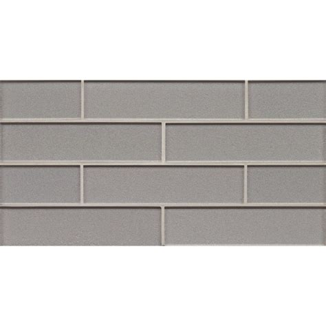 glass backsplash tile lowes shop bedrosians manhattan platinum glass mosaic subway