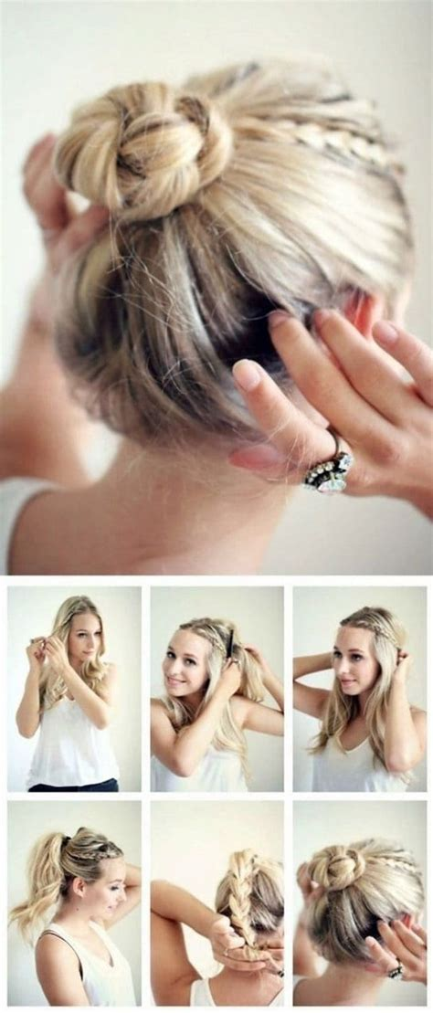 2 minute hairstyles for work hairstyles easy step by step hairstyle tutorials you can do in less