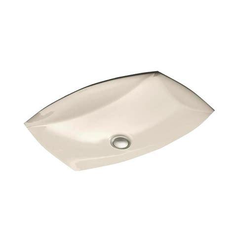 almond undermount bathroom sink kohler kelston vitreous china undermount bathroom sink