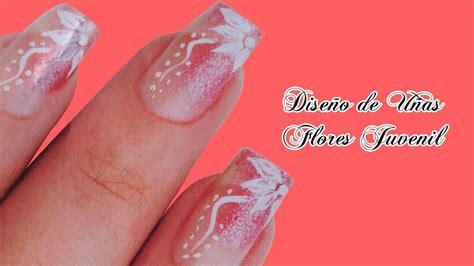 imagenes de uñas de acrilico juveniles dise 241 o de u 241 as con flores juveniles fotos o imagenes de