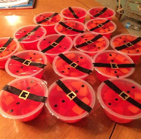 preschool christmas party gelatin fruit cups became santa