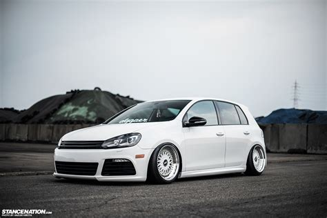 volkswagen golf stance in white yasunobu s usdm style vw golf