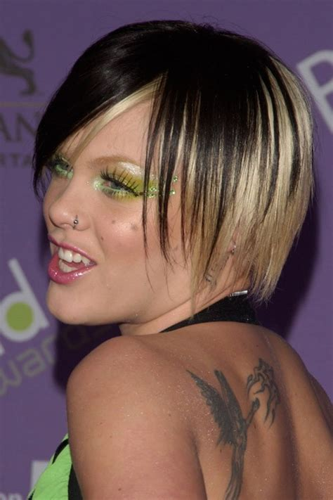dirty blonde bob hairstyle with peek a boo highlights pink straight black bob peek a boo highlights shaggy bob