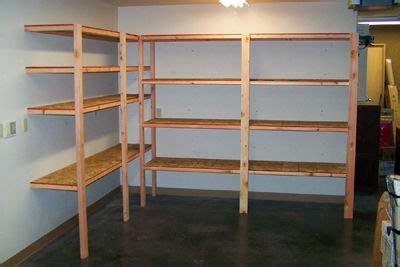 build basic garage shelves diy diy garage