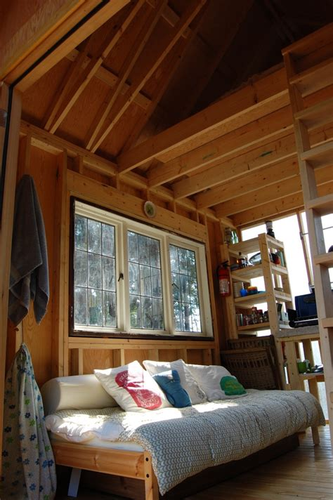 Cabin Interiors by Tiny Rustic Cabin Interior Small House Bliss
