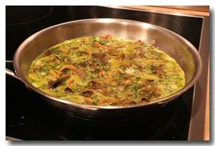 omelette aux chanterelles la cuisine d olivier