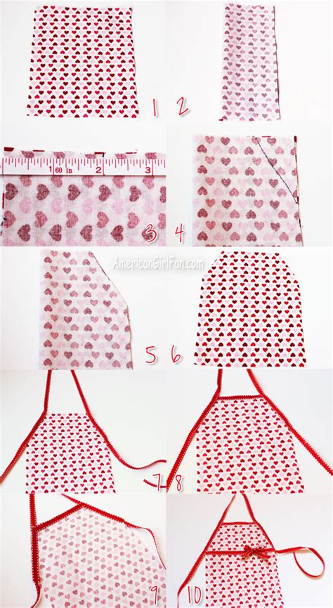 apron pattern american girl doll doll craft how to make a no sew kitchen apron