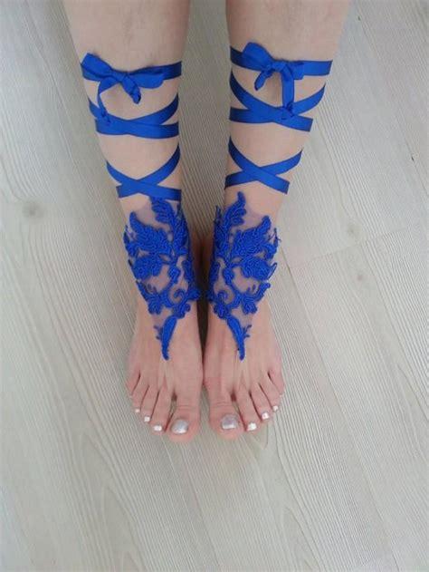 Blue Wedding Sandals For by Royal Blue Wedding Barefoot Sandals 2360888 Weddbook
