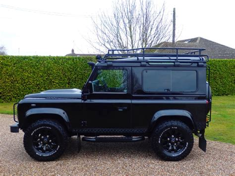 land rover defender black used santorini black land rover defender for sale essex