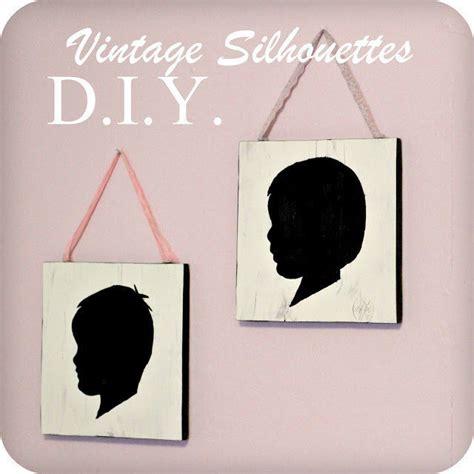 diy vintage style silhouette wall art