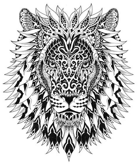 lion zendoodle drawn by justine galindo signed prints lion mandala tattoos pinterest skiss konst och
