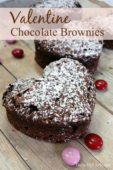 valentines brownies decadent chocolate brownies daily diy