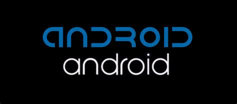 dafont android image gallery new android logo