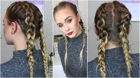 hairstyles to do with plaited extensions dutch braids how to hide clip ins extensions