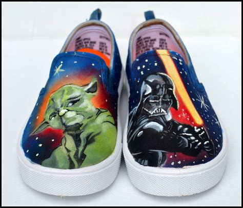 wars shoes gifts for boys wars shoes painted by pricklypaw