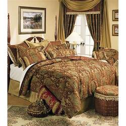 Gold Coverlet Sherry Kline China Art Brown Cal King Size 6 Piece