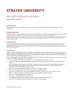 Strayer Mba Course Catalog by Undergraduate Booklists