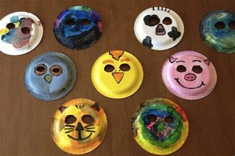 Animal Masks To Make With Paper Plates - paper plate animal masks crafts for