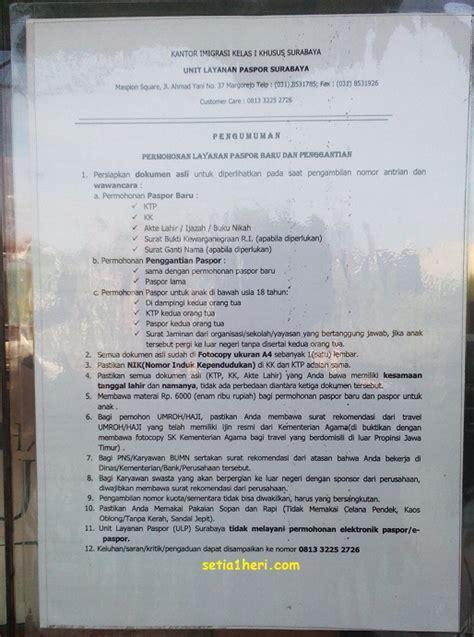 syarat untuk membuat paspor baru pengalaman perpanjangan paspor di ulp maspion square
