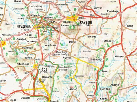 kayseri map kayseri map