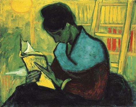 paint reader vincent van gogh the paintings the novel reader